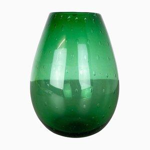 Green Sommerso Bullicante Murano Glass Vase, Italy, 1970s