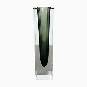 Große Sommerso Murano Glas Vase von Flavio Poli für Seguso, Italien