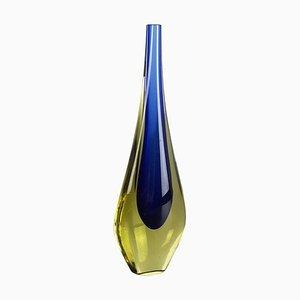 Kleine Sommerso Vase aus Muranoglas von Flavio Poli, Italien, 1960er