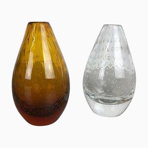 Bubble Glasvasen von Hirschberg, 1970er, 2er Set