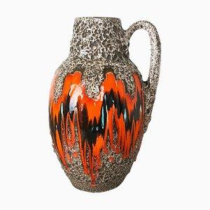 Large Multicolored Fat Lava Ceramic 414-38 Floor Vase from Scheurich, 1970s