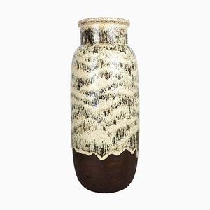 Large Multicolored Fat Lava Ceramic 204-41 Floor Vase from Scheurich, 1970s
