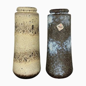 Fat Lava Ceramic 206-26 Vases from Scheurich, Germany, 1970s, Set of 2
