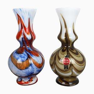 Pop Art Opaline Florence Vases, Italy, 1970s, Set of 2