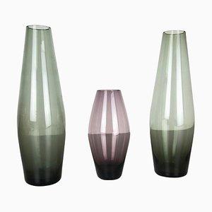 Vases Série Turmalin par Wilhelm Wagenfeld pour WMF, Allemagne, 1960s, Set de 3