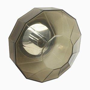 German Modernist Diamond Wall Light from Glashütte Limburg, Germany, 1970s