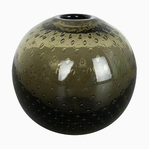 Green Glass Perlora Vase by Walter Drexel for WMF, Germany, 1960s