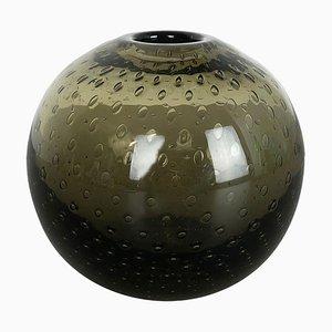 Grüne Perlora Vase aus grünem Glas von Walter Drexel für WMF, 1960er