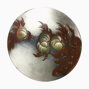 Art Deco Silver Plated Shell Bowl from WMF Ikora, Germany, 1930s