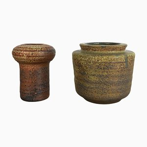Ceramic Studio Pottery Vases by Piet Knepper for Mobach, Netherlands, 1970s, Set of 2