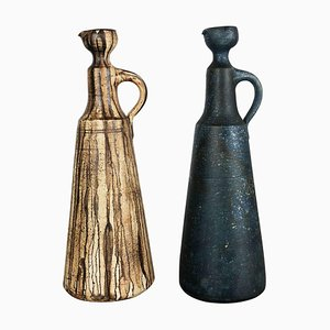 Ceramic Studio Pottery Vases by Gerhard Liebenthron, Germany, 1980s, Set of 2