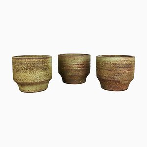 Ceramic Studio Pottery Vases by Piet Knepper for Mobach, Netherlands, 1970s, Set of 3