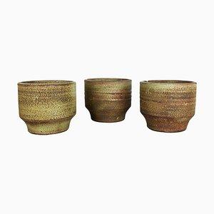 Studio Keramikvasen aus Keramik von Piet Knepper für Mobach, Niederlande, 1970er, 3er Set