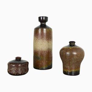 Ceramic Studio Pottery Vases by Elmar and Elke Kubicek, Germany, 1970s, Set of 3