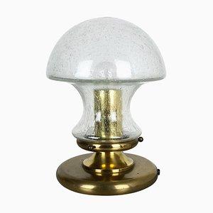 Moderne Tischlampe aus Glas & Messing in Pilz-Optik von Doria, Deutschland, 1970er