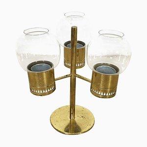 Brass Hurricane Candleholder by Hans-Agne Jakobsson, Sweden, 1960s