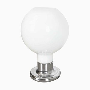 Large Table Lamp with White Murano Bubble Glass Shade from Cosack, 1970s