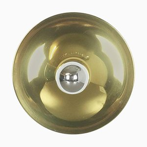 German Modernist Brass Disc Wall Light from Cosack, Germany, 1960s