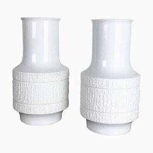 Op Art Porcelain Vases by Richard Scharrer for Thomas, Germany, 1970s, Set of 2