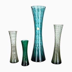 Vasi in cristallo soffiato a mano di Alfred Taube, Germania, anni '60, set di 4