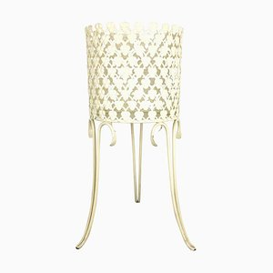 Minimalistic Metal Planter Plant Stand in the style of Matégot, France, 1960s