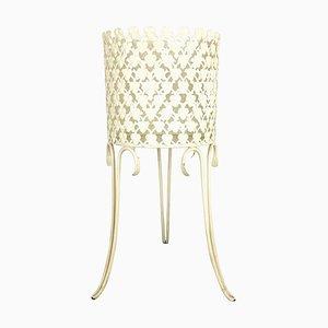 Portapiante minimalista in metallo nello stile di Matégot, Francia, anni '60