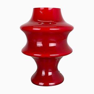 Mushroom Tischlampe aus rotem Glas von Hustadt Lights, 1970er