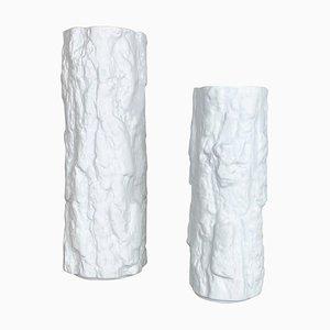 Porcelain Op Art Brutalist Vase from Bareuther, Bavaria, Germany, 1970s, Set of 2
