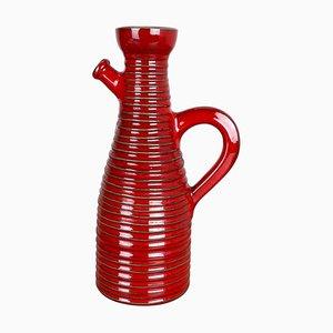 Vaso in ceramica rossa di Marei Ceramics, Germania, anni '70