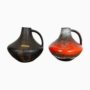 Fat Lava Keramikvasen von Heinz Siery für Carstens Tönnieshof, 1970er, 2er Set