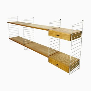 Modular String Wall Unit in Ashwood by Nisse Strinning, Sweden, 1970s