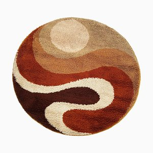 Small Psychedelic High Pile Rug from Prinstapijt Desso, the Netherlands, 1970s