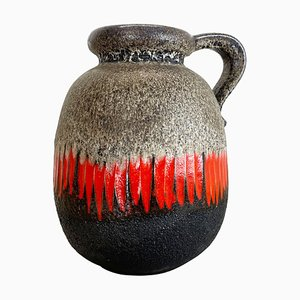 Large Pottery Fat Lava Multi-Colored 484 Floor Vase from Scheurich, 1970s