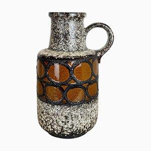 Große mehrfarbige Fat Lava 408-40 Bodenvase aus Keramik von Scheurich, 1970er