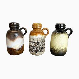 Pottery Fat Lava 413-20 Vasen von Scheurich, 1970er, 3er Set
