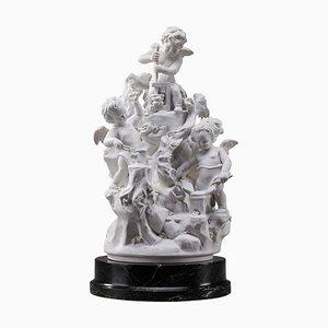 Les Travaux des Amours, Sculpture in Biscuit Porcelain, France