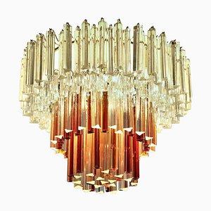 Deckenlampe aus Muranoglas, 20. Jh. Von Paolo Venini