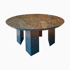 Tavolo grande rotondo a 10 posti in granito