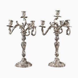 19th Century Silver Candelabra from Boin Taburet, Set of 2