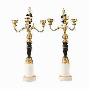 Early 19th Century Empire Candelabra with Caryatids, Set of 2