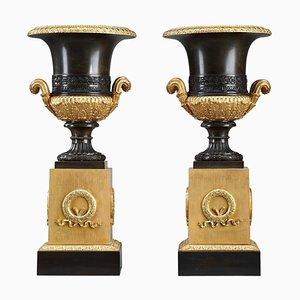 Large Restoration Era Medici Vases, Set of 2