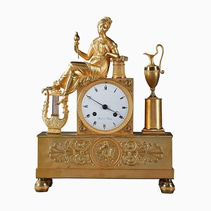 Empire Clock Depicting Spinner by Rossel, Rouen