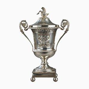 Piatto in argento e cristallo, inizio XIX secolo
