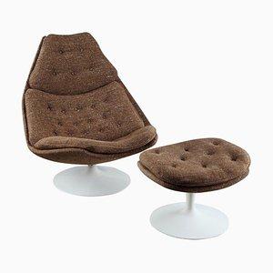 F588 Sessel mit Fußhocker von Geoffrey Harcourt für Artifort, 2er Set