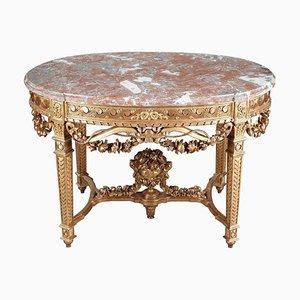 Louis XVI Tisch aus Holz und vergoldetem Holz