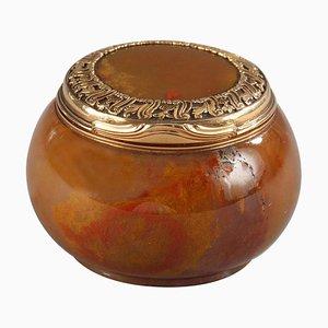 18th Century English Gold-Mounted Agate Snuff-Box