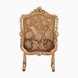 Louis XV Kaminschirm aus vergoldetem Holz von Charles Mauriceau-Beaupré Collection