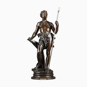 Ernest Rancoulet, Le Travail, 19th Century, Bronze Statue