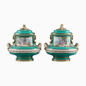 Large Porcelain Vases, Set of 2