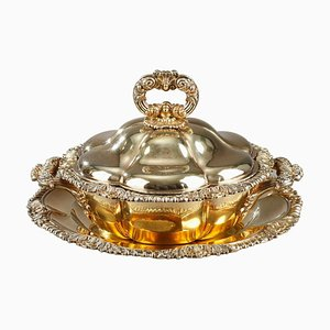 Vermeil Lobed Tureen by Charles Nicolas Odiot, Mid-19th Century, Set of 2
